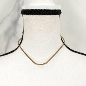 ✨VTG✨ Brass Hoop Choker Necklace
